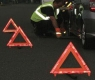 foldable warning triangle high reflective tape