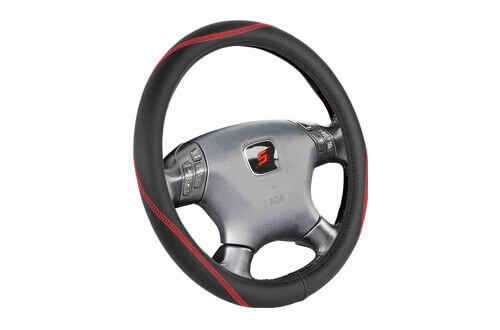 leather car steering wheel cover SWC203