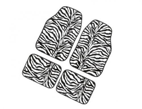 Animal Print Zebra Carpet Mat